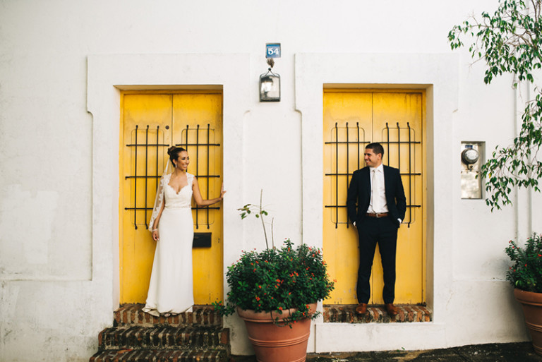 This gorgeous elegant wedding took place in Puerto Rico, the homeland of the bride