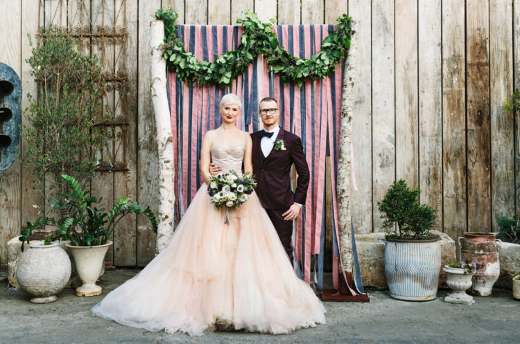 This quirky, whimsy and fun wedding was done in industrial meets edgy style