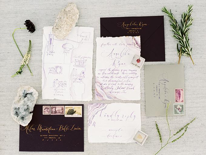 Luxe Romantic Beach Wedding Shoot With Dark Elements