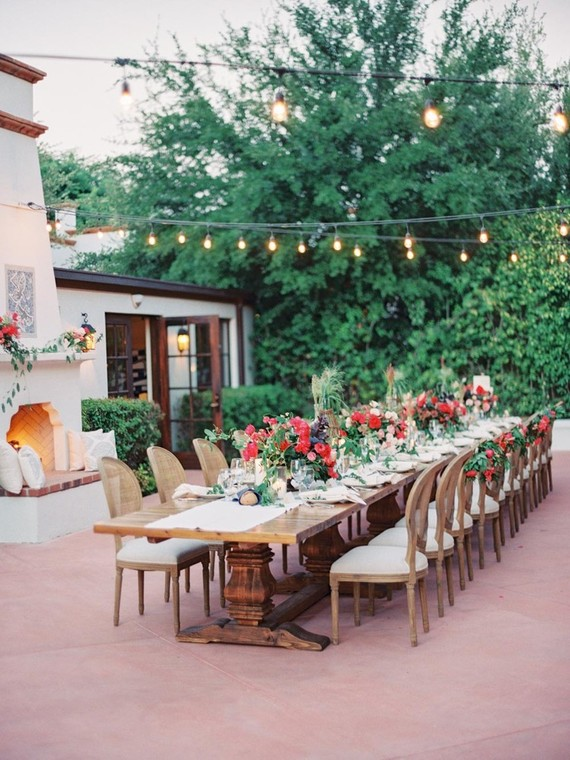 The venue reminded of traditional Spanish terraces and patios