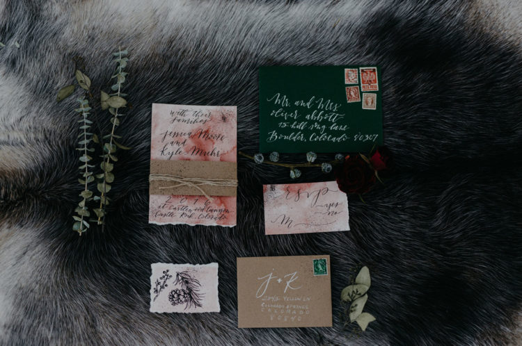 The watercolor invitation suite had an air of something enchanting and ethereal