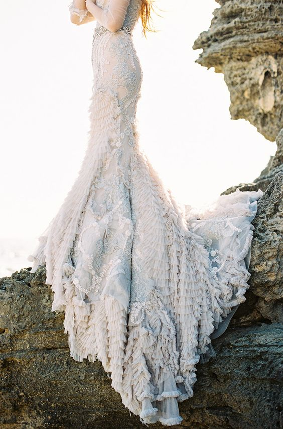adorable sea-foam inspired dress for real mermaids