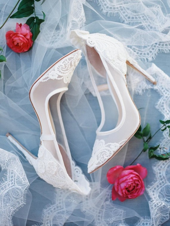 Look at these stunning bridal lace heels, they are just pure elegance and perfection
