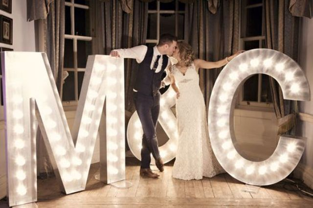 these lighted monograms create photo-ops while putting your stamp on the entire reception