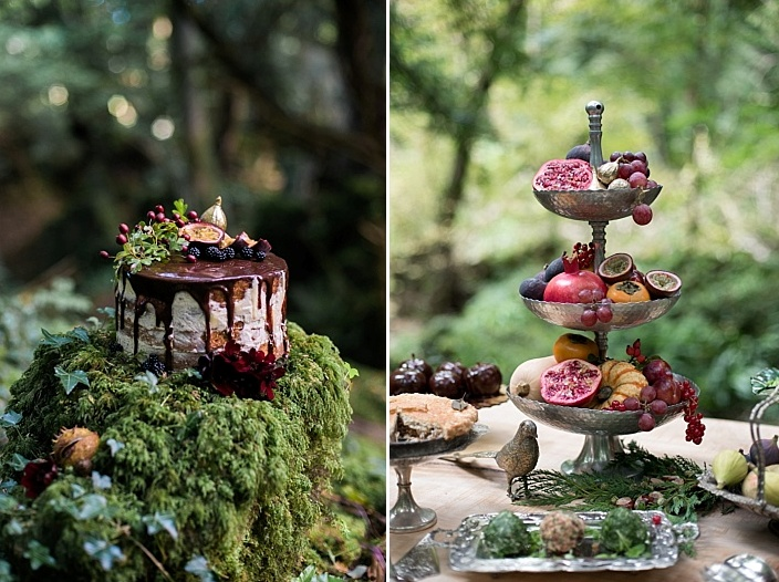 Look how adorable this food is in the backdrop of moss and branches