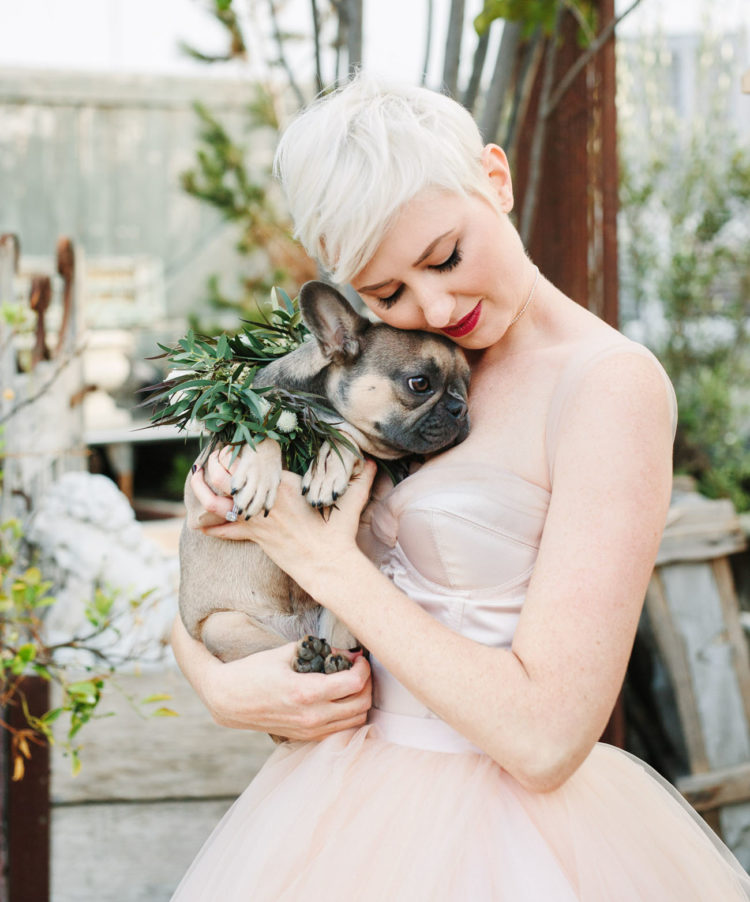 The couple pup Rilo became a flower girl at the wedding, such a great idea to incorporate your pet into your big day