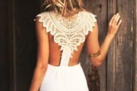 06 sexy wedding dress with a tribal-inspired lace racerback