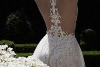 09 refined lace racerback wedding dress