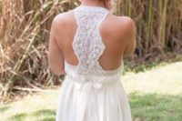 10 relaxed wedding gown with a lace racerback
