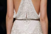 11 all-sparkling wedding dress with a racerback for a modern bride
