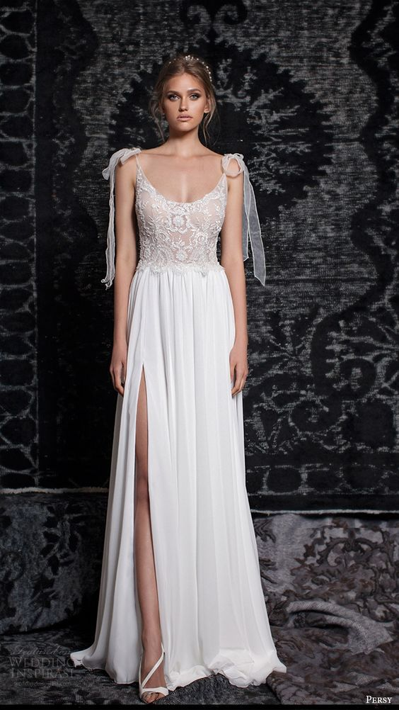 Picture Of sleeveless lace bodice with a scoop neckline ...