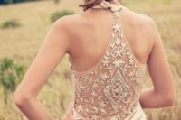 12 boho wedding gown with a sparkling racerback