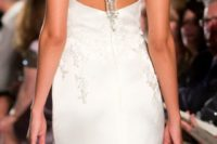 13 chic fit and flare wedding dress with a jeweled racerback