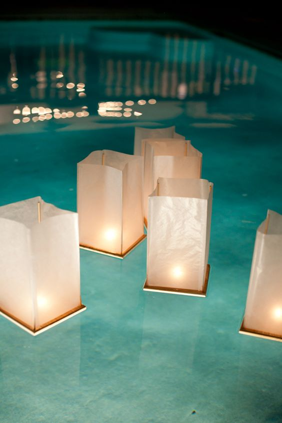 floating lanterns are affordable and cool for lights