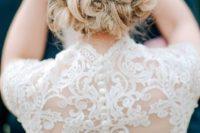 20 twisted wedding updo with fresh babt's breath