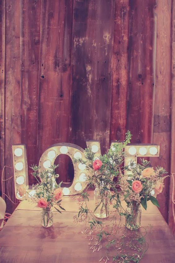 LOVE marquee letters for decorating any of the zones of your venue