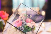 22 stunning cube terrarium with flowers inside