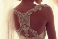 23 stunning lace and jeweled racerback of your wedding dress will make everyone look at you