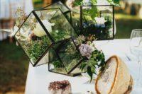 23 unique terrarium combo centerpiece with moss and flowers