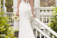 25 elegant wedding dress with an illusion racerback on buttons