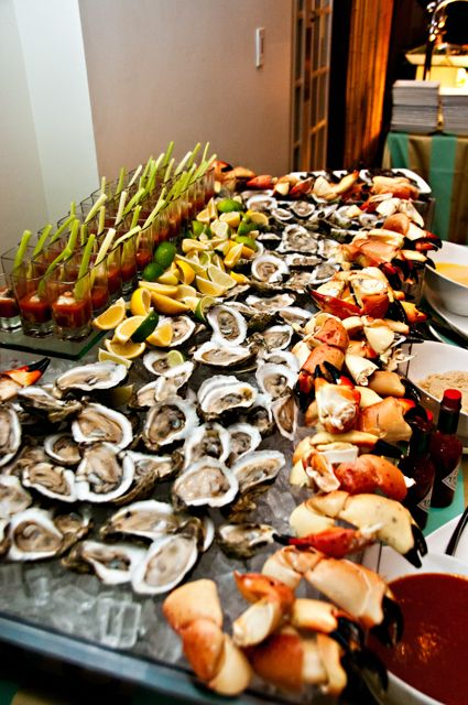 luxurious seafood bar to serve to your guests