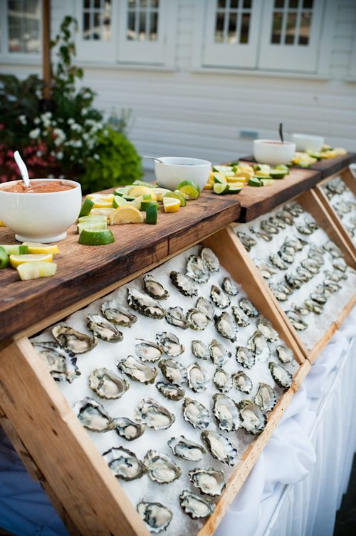 26 gorgeous oyster bar with citrus and sauces