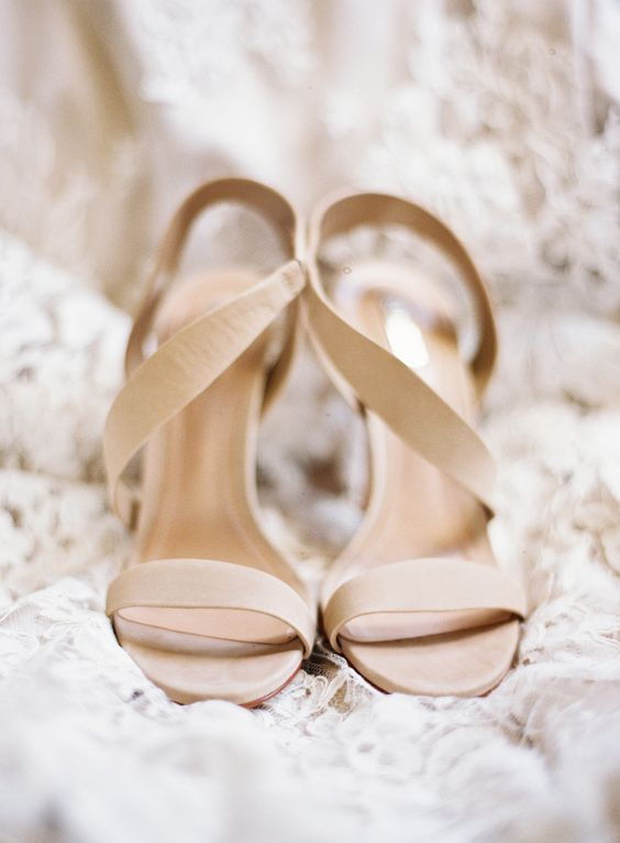 nude strappy sandals with heels