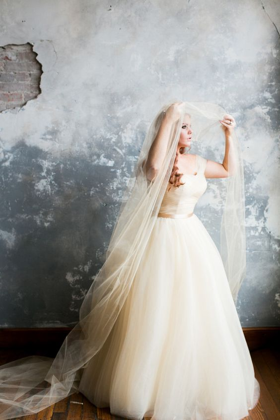 off the shoulder wedding gown with an empire waist