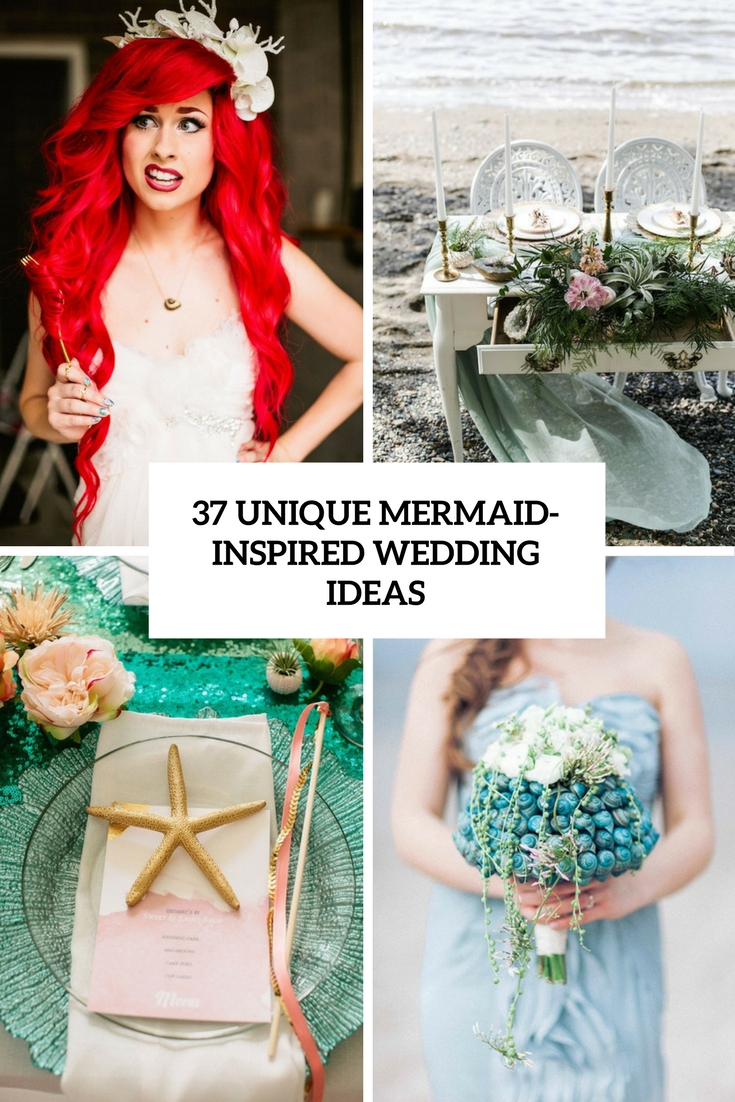 unique mermaid inspired wedding ideas cover