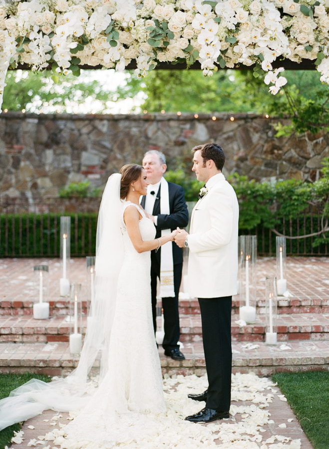 All-White Napa Vineyard Wedding With Glam Touches