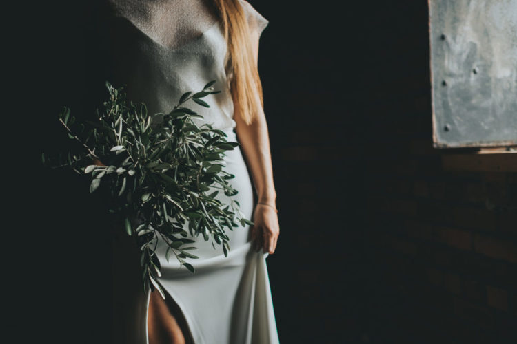 Minimalist Wedding Shoot With Lots Of Greenery