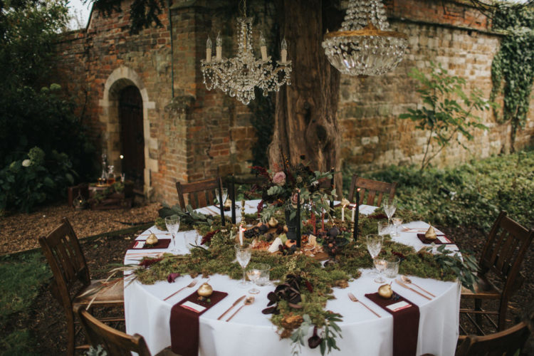 This moody wedding shoot took place in a secret garden and was full of rustic luxury