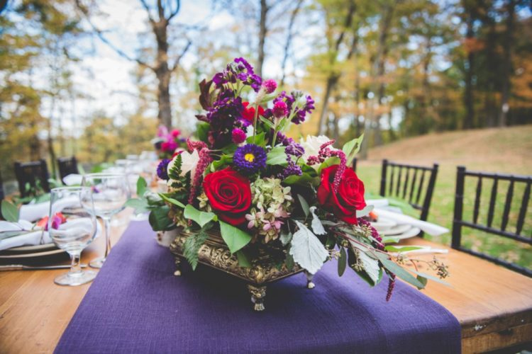 Rich-Colored Fall Wedding Shoot Outdoors