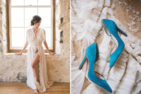 02 Blue suede heels became a perfect something blue detail for the bride