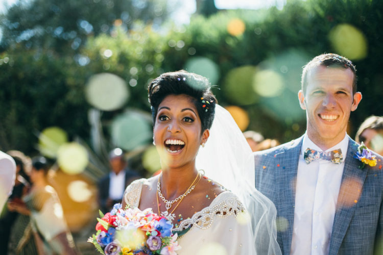 The bride who is from Sri Lanka wanted a tropical wedding yet with elegant details