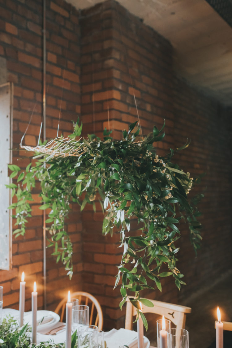 There was a lot of greenery used for this shoot to make the venue look airy
