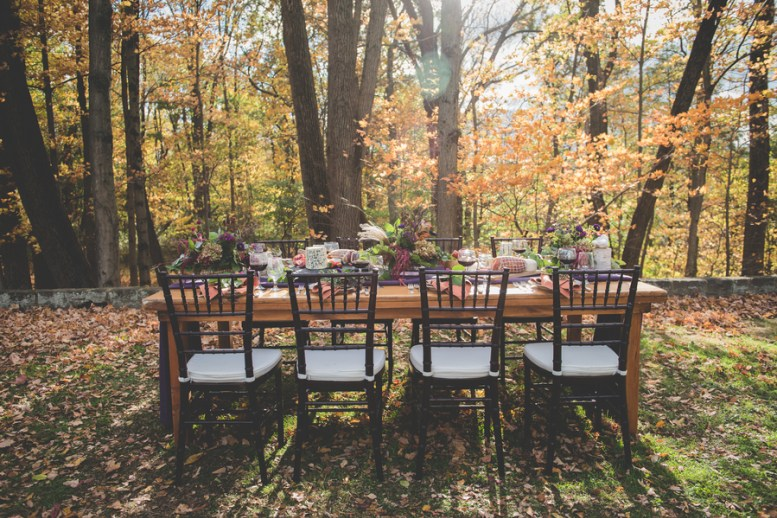 If the weather allows it, have an outdoor wedding with bold rich colors