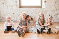 03 Sparkling flower girl dresses were crafted especially for these nuptials