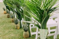 03 pineapples and palms for lining up the aisle