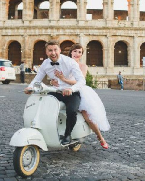 run around on a Vespa just like Audrey Hepburn in Roman Holiday