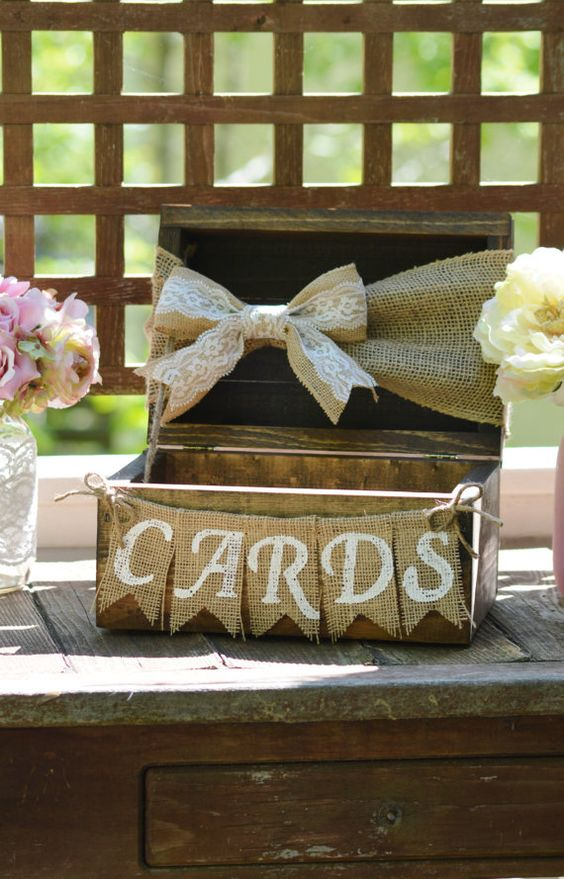 35 rustic wedding card boxes and their alternatives for Wedding mailbox decorating ideas