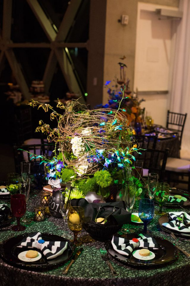 Every table was different and very whimsy, so the guests could never be bored