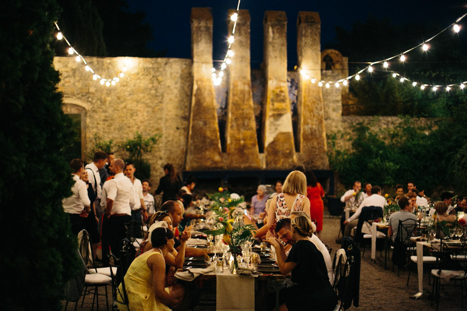 The reception took place in a rural hotel in a Spanish village