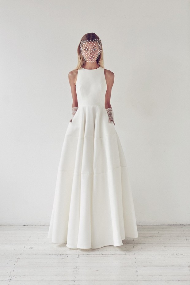 sleeveless wedding ballgown with pockets