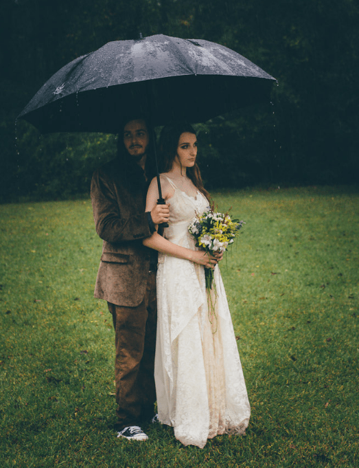 Raining isn't a problem for your wedding, your marriage will be happy according to an old proverb