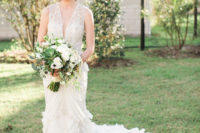 07 The wedding bouquet was neutral and textural, and worked perfectly with the dress