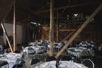 09 The reception took place in a barn, and the tables were laid like in the best restaurants, with lots of whites