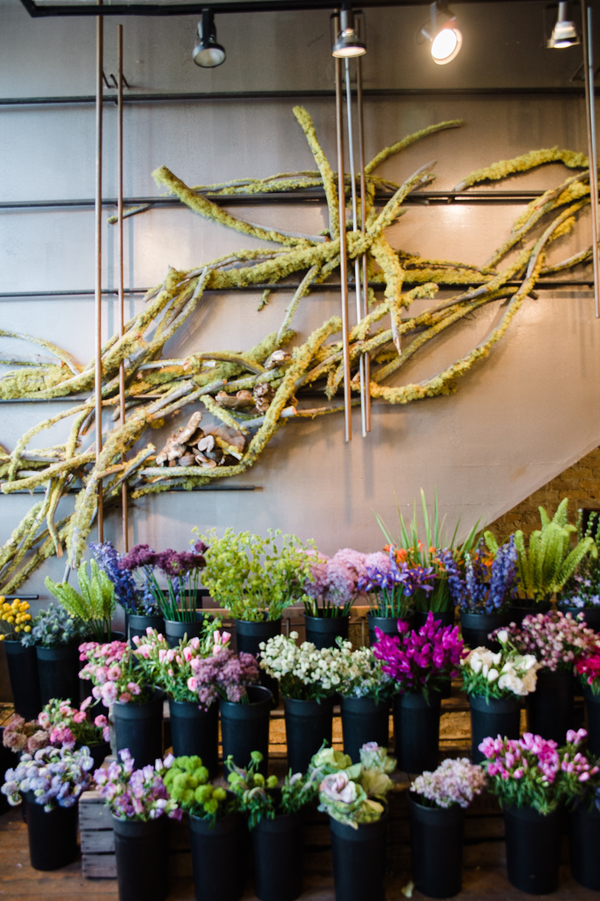 The venue was filled with flowers and greenery, textural and eye-catchy