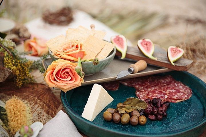 The wedding banquet was a simple beach styled one, with olives, figs and cheese and crackers