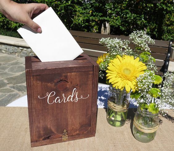 Fall Wedding Card Holder Ideas: 35 Rustic Wedding Card Boxes And Their Alternatives